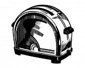 Toaster - Retro Clip Art