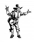 Pilgrim Man - Retro Clipart Illustration