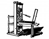 Printing Press - Retro Clipart Illustration