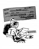 Loans - Retro Clipart Illustration