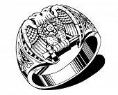 Lodge Ring - Retro Clipart Illustration