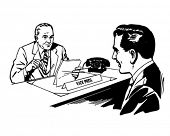 Meeting With The President - Retro Clipart Illustration