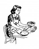 Rolling Dough - Retro Clipart Illustration