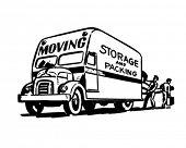 Móveis armazenagem e embalagem - ilustração Clipart retrô