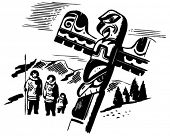 image of indian totem pole  - Totem Pole  - JPG