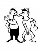Arguing With The Umpire - Retro Clipart Illustration
