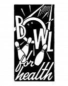 Schüssel für Gesundheit - Retro Art-Werbebanner