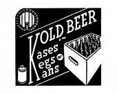 Kold bier - Kases vaatjes Kans - Retro advertentie kunst Banner