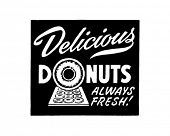 Delicious Donuts - Retro Ad Art Banner