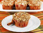 Healthy Cinnamon, Apple And Granola Muffins