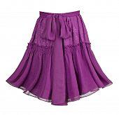 violet lace skirt