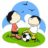 Football (soccer) players. Trick