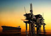 Produção de petróleo no mar