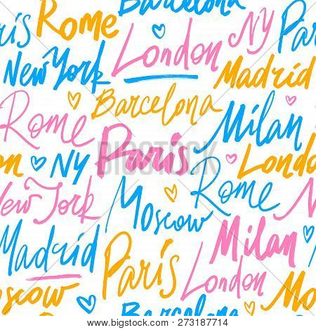 Seamless Pattern With Names Of