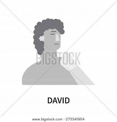 David Icon Isolated On White