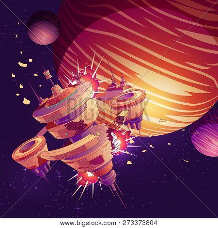 Future Spaceship Or Orbital Station