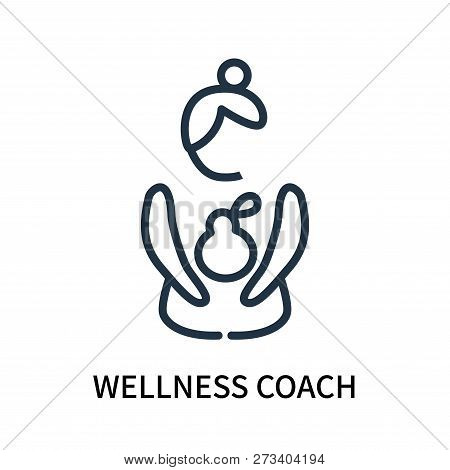 poster of Wellness Coach Icon Isolated On White Background. Wellness Coach Icon Simple Sign. Wellness Coach Ic