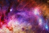 Artistic Abstract Digital Smooth Beautiful Colorful Bright Smooth Galaxy Filled With Stars Backgroun poster