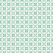 Turquoise Geometric Seamless Pattern. Vector Abstract Texture With Crosses In Circular Grid, Small S poster