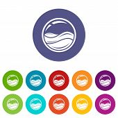 Aqua Window Icons Color Set Vector For Any Web Design On White Background poster