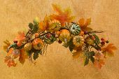 Fall themed maple, pumpkin wreath