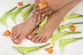 Spa-Behandlung mit schöne Lilien