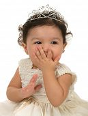 picture of toddlers tiaras  - A cute baby girl - JPG
