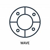 Wave Icon Isolated On White Background. Wave Icon Simple Sign. Wave Icon Trendy And Modern Symbol Fo poster