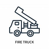 Fire Truck Icon Isolated On White Background. Fire Truck Icon Simple Sign. Fire Truck Icon Trendy An poster