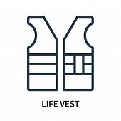 Life Vest Icon Isolated On White Background. Life Vest Icon Simple Sign. Life Vest Icon Trendy And M poster