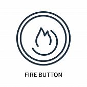 Fire Button Icon Isolated On White Background. Fire Button Icon Simple Sign. Fire Button Icon Trendy poster
