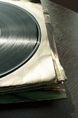 stock photo of lps  - LPs and covers - JPG