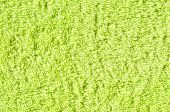 Soft Green Texture Of Towel. Green Towel Texture. Cotton Towel Background And Texture poster