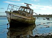 picture of old boat  - old boat - JPG
