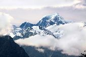 Mount Cook Covered In Clouds