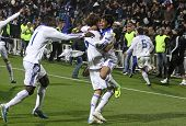 Dynamo Kyiv Players React After Scored a Goal
