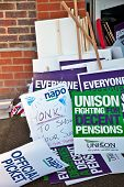 Striker placards