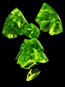 radioactivity symbol uranium glass