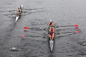 Camp Randall Rowing Club(R) and Merrimac River Rowing Club (L