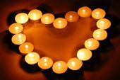 Candles in Heart Shape.