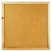Cork Board Isolated on the White.