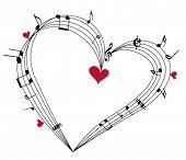 Valentine music concept,