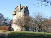 16Th Century Scottish Tower House Landscape