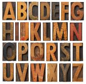 Vintage Wooden Alphabet Set