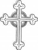Постер, плакат: Православный крест эскиз