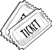 Movie ticket sketch