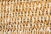 basketry traditional texture of twisted dried reeds