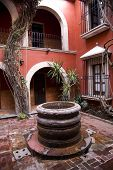 Spanish Style Courtyard Well Morelia Mexico