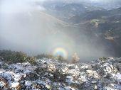 Solar Halo Gloria, Brocken Spectre, Brocken Bow Or Mountain Spectre Rare Optical Illusion In High Mo poster