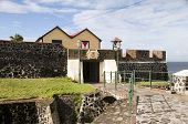Pátio entrada Fort Oranje Oranjestad Sint Eustatius ilha caribenha Holanda